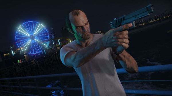 Trevor with a Combat Pistol in GTA 5