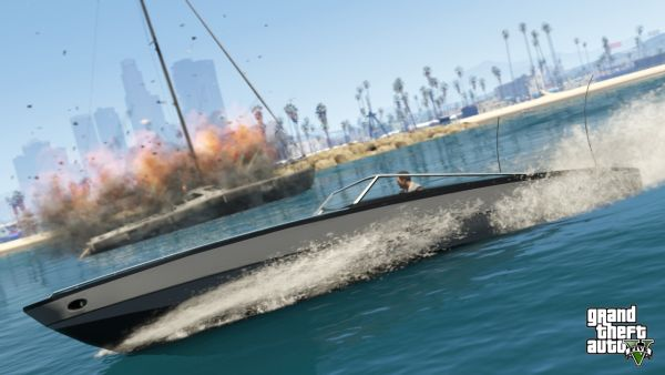Don't try parking your boat in a garage in GTA 5. You'll need to buy a slip at a marina.